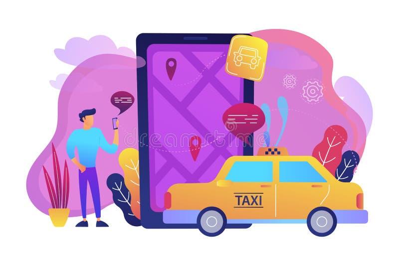 Miasto nawigaci apps, mądrze miasta pojęcia ilustracja royalty ilustracja