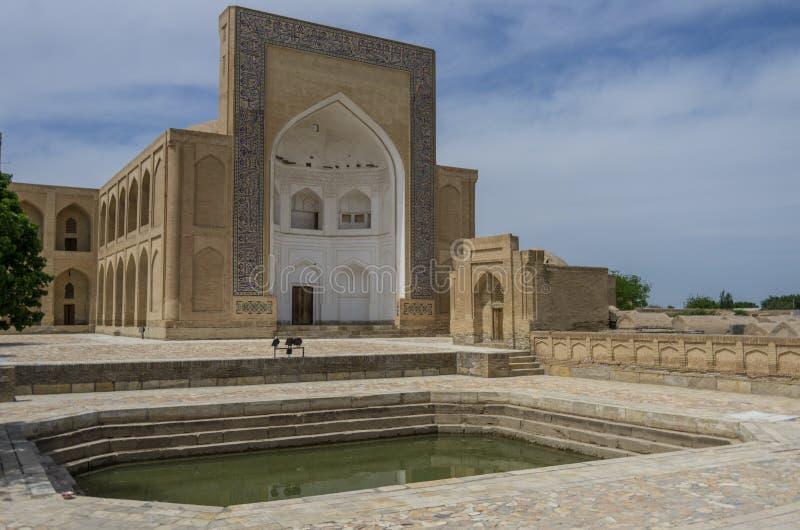 Miasto nieboszczyk Pamiątkowy kompleks, necropolis Chor-Bakr w Bukh zdjęcia stock