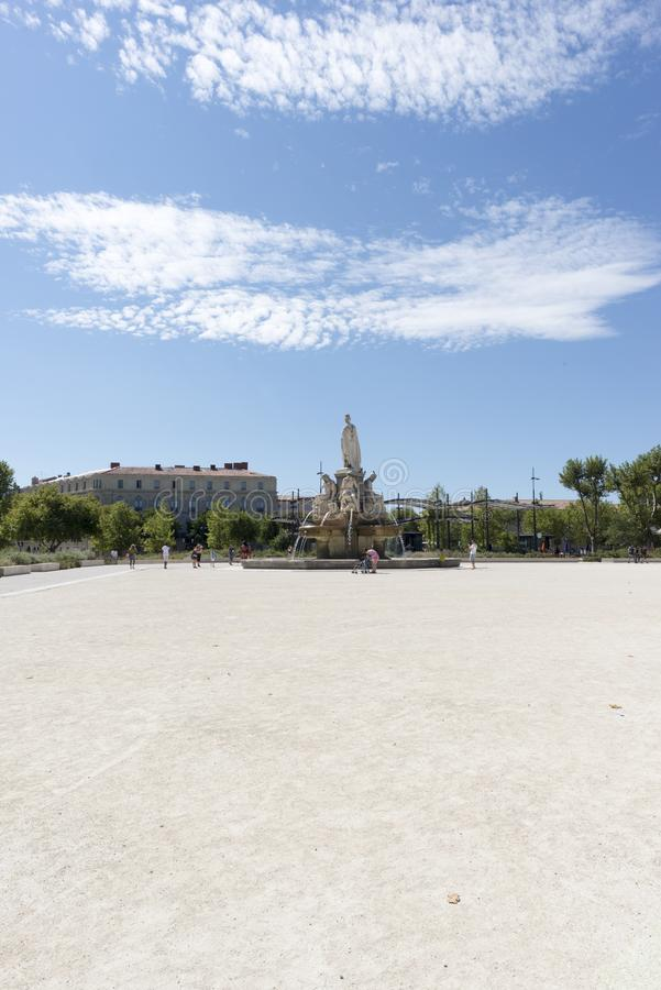 Miasto Nimes zdjęcia royalty free