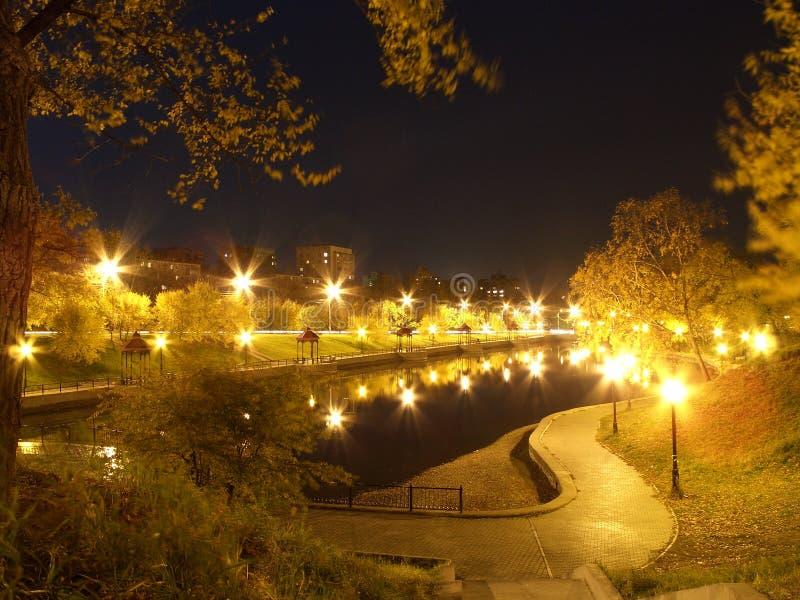 miasto nocą obraz stock