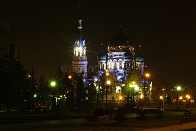 miasto nocny fotografia stock
