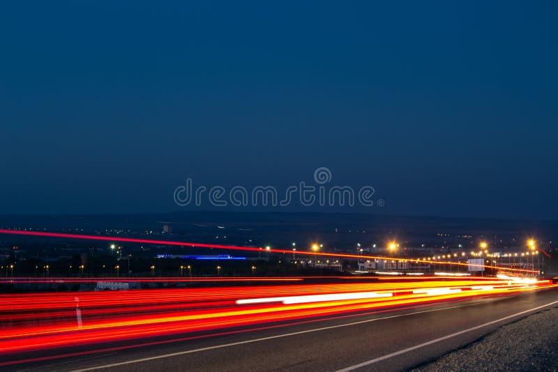 MIASTO nocy światła zdjęcia royalty free