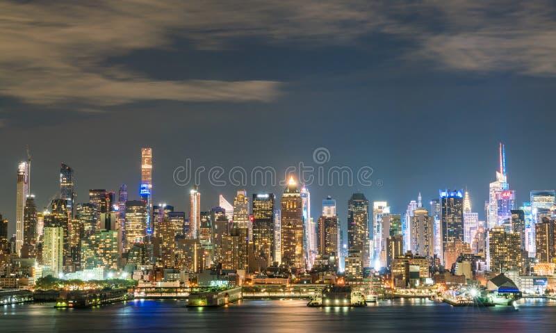 miasto nocy nowa linia horyzontu York zdjęcia royalty free