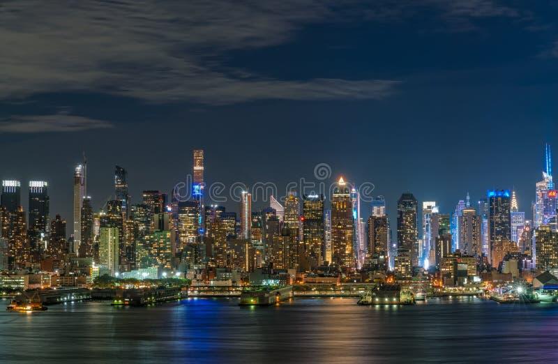 miasto nocy nowa linia horyzontu York zdjęcia stock