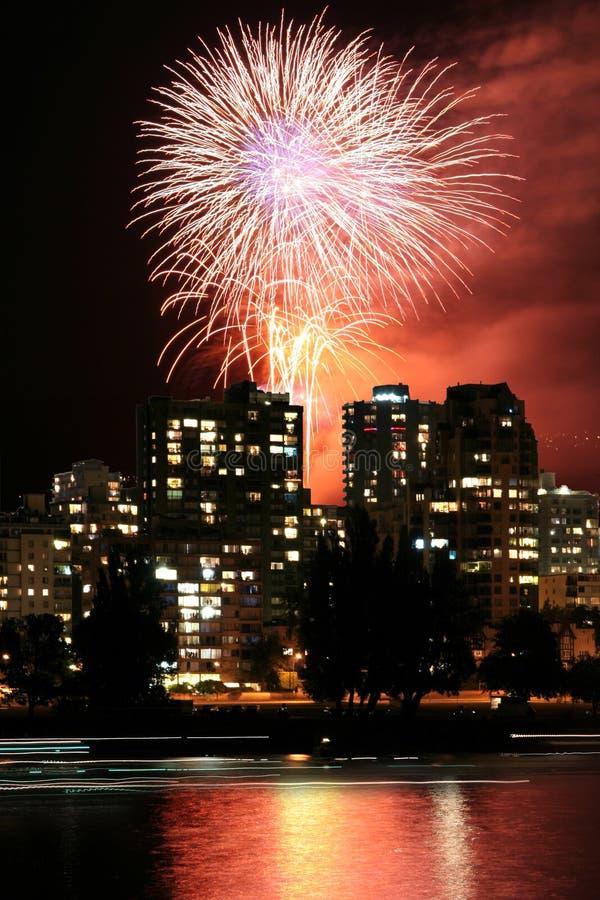 miasto nocy widok zdjęcie stock