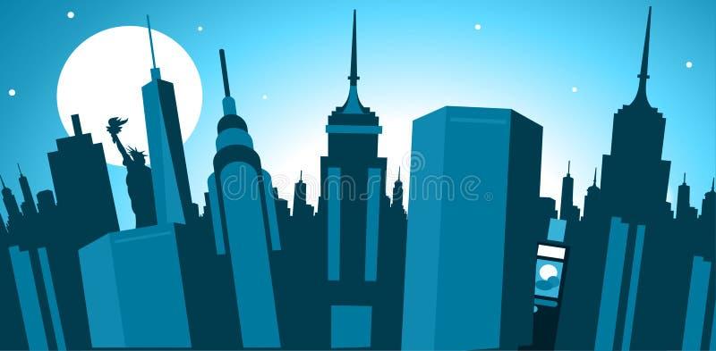 miasto nowa linia horyzontu York ilustracja wektor