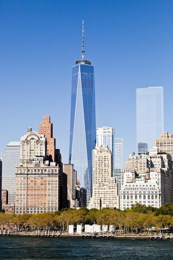 Miasto Nowy Jork śródmieście w wolności wierza 2014 obrazy stock