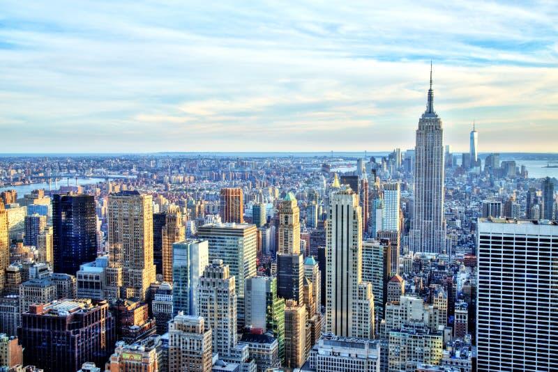 Miasto Nowy Jork środek miasta z empire state building zdjęcie stock