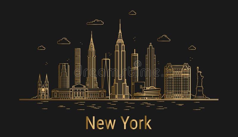 miasto nowy Jork ilustracji