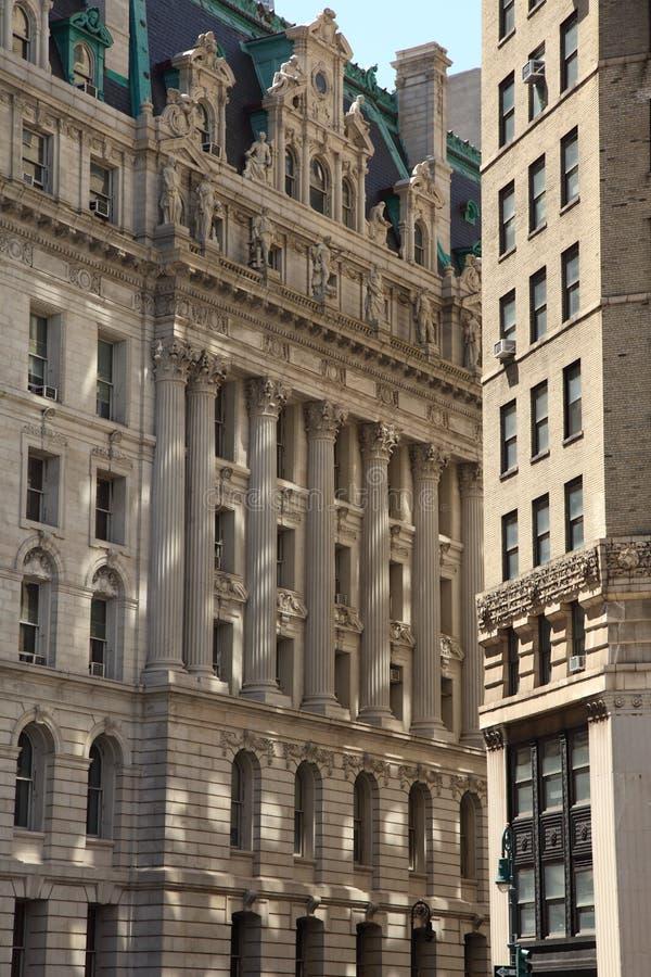 Miasto Nowy Jork architektury szczegół zdjęcie stock