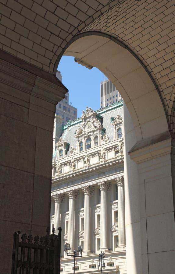 Miasto Nowy Jork architektury szczegół zdjęcia royalty free