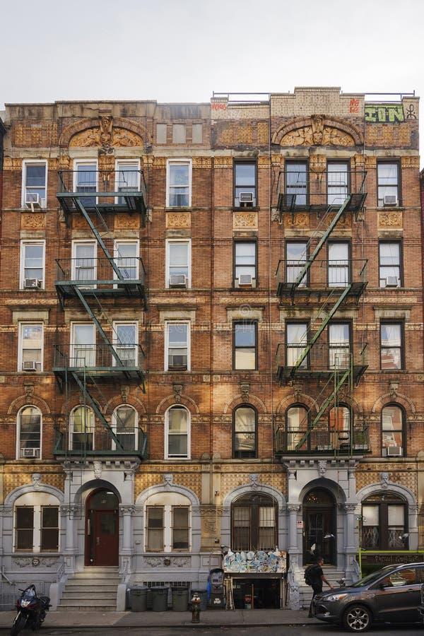 Miasto Nowy Jork brownstone tenement blok obraz stock