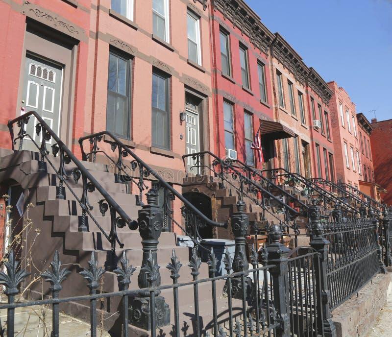 Miasto Nowy Jork brownstones obraz royalty free