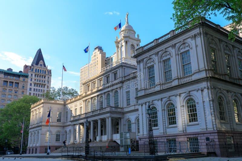 Miasto Nowy Jork Hall budynek w niskim Manhattan obraz stock