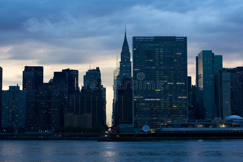 Miasto Nowy Jork HQ Narody Zjednoczone obraz royalty free