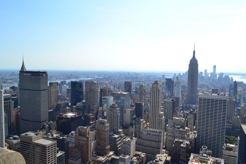 Miasto Nowy Jork Linia horyzontu Antena zdjęcie royalty free