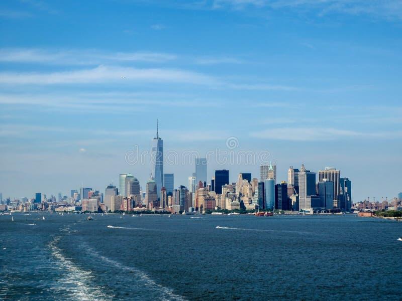 Miasto Nowy Jork linia horyzontu na lata popołudniu obrazy royalty free