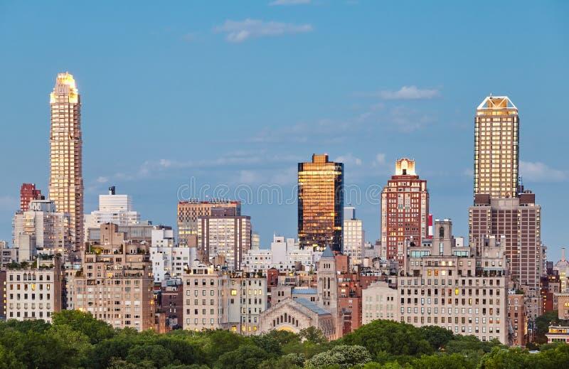 Miasto Nowy Jork linia horyzontu nad central park, usa zdjęcie stock