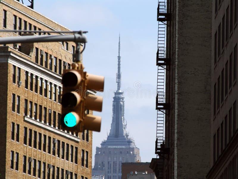 Miasto Nowy Jork linii horyzontu światło fotografia royalty free