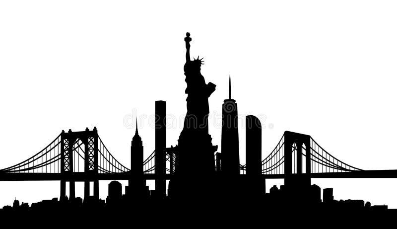 Miasto Nowy Jork linii horyzontu wektor obraz stock