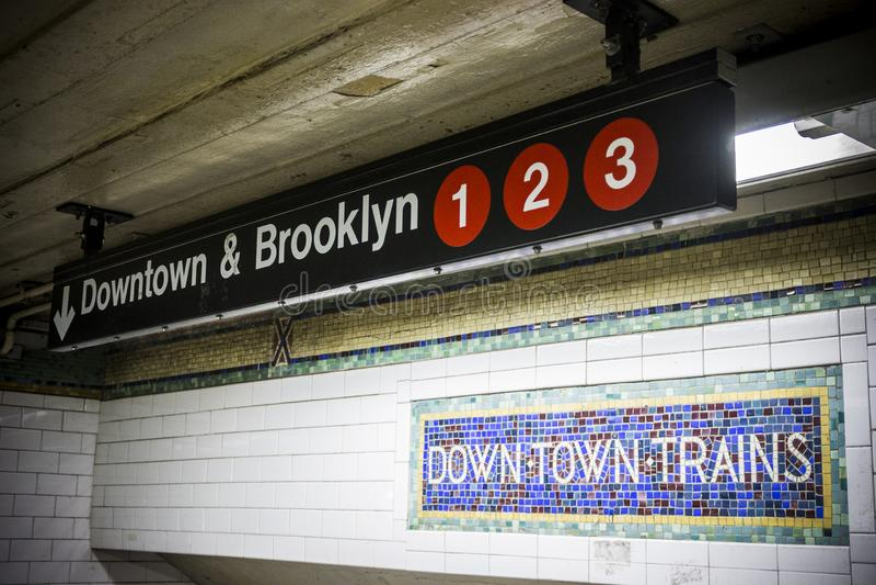 Miasto Nowy Jork metra wejście obraz stock