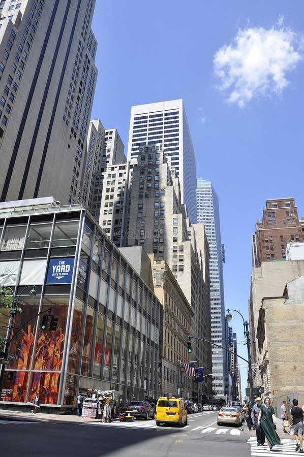 Miasto Nowy Jork, 2nd Lipiec: Uliczny widok w Manhattan od Miasto Nowy Jork w Stany Zjednoczone obraz stock