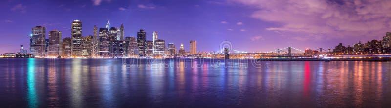 Miasto Nowy Jork panorama zdjęcie royalty free