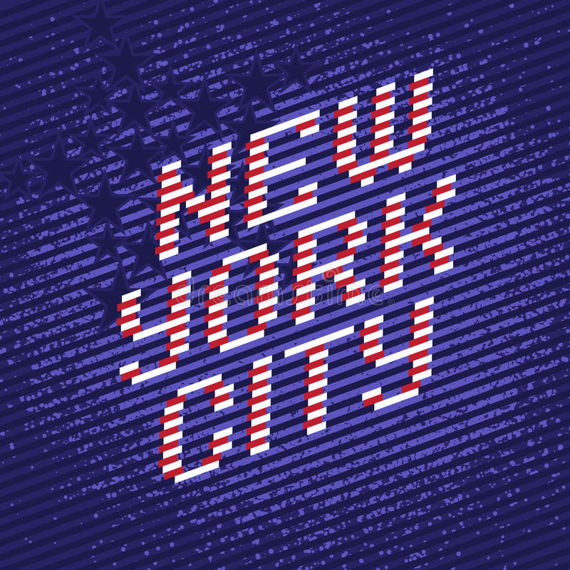 Miasto Nowy Jork plakat ilustracja wektor