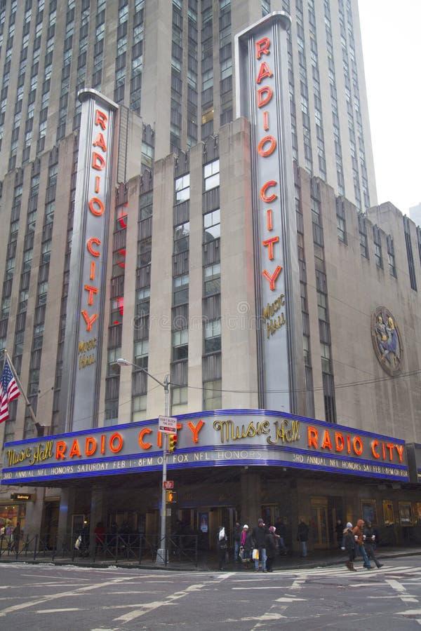 Miasto Nowy Jork punkt zwrotny, Radiowa miasto hala koncertowa w Rockefeller centrum obrazy royalty free