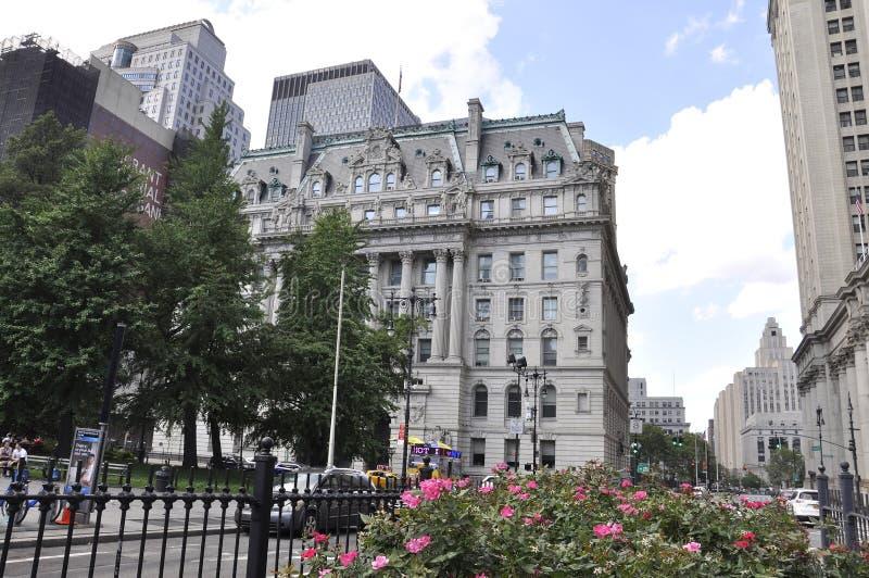 Miasto Nowy Jork, 3rd Lipiec: NY urząd miasta w lower manhattan od Miasto Nowy Jork w Stany Zjednoczone obrazy royalty free