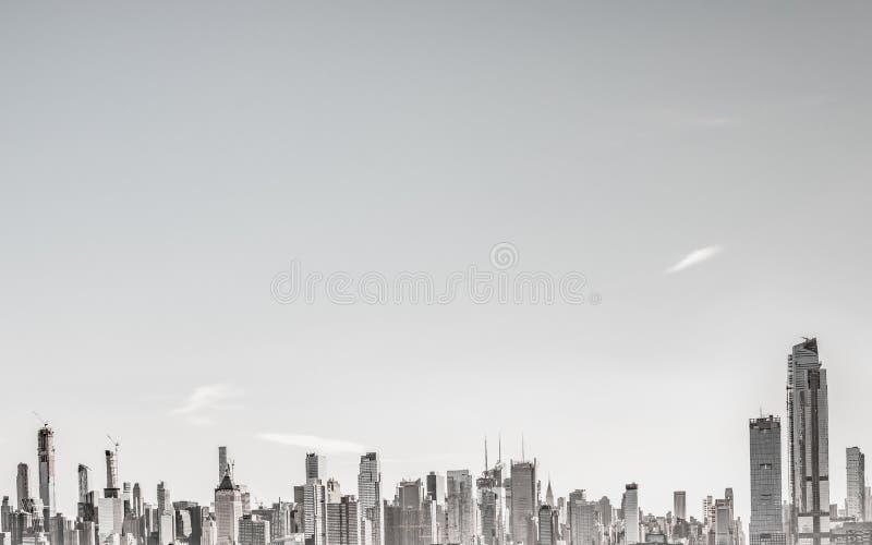 Miasto Nowy Jork, Nowy Jork Stany Zjednoczone, Grudzień, -, 2018: Piękny linia horyzontu Manhattan budynki obraz royalty free