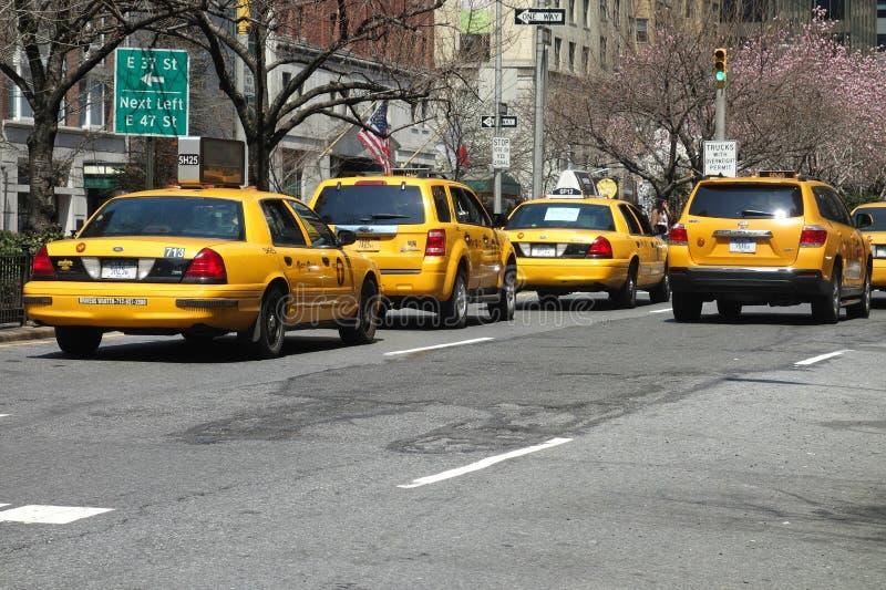 Miasto Nowy Jork taksówki fotografia royalty free