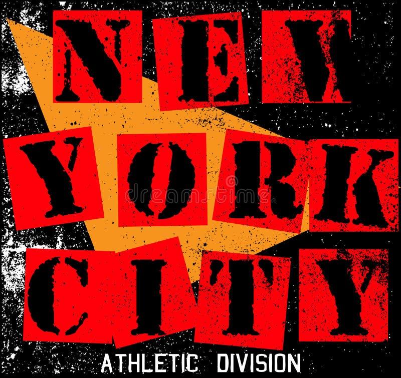 Miasto Nowy Jork tekstury T koszulowy Graficzny projekt ilustracji