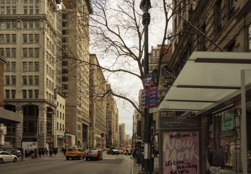 Miasto Nowy Jork, 5th aleja obrazy stock