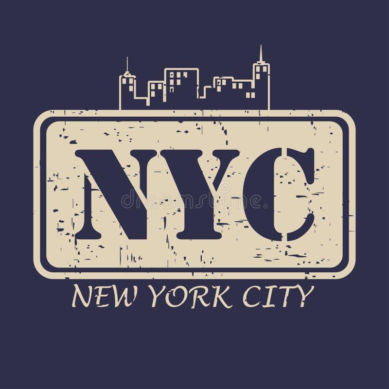Miasto Nowy Jork typografia dla projekta odziewa, koszulki również zwrócić corel ilustracji wektora royalty ilustracja