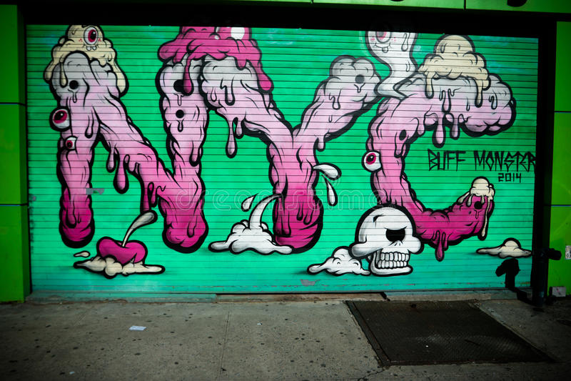 Miasto Nowy Jork ulicy sztuka obrazy stock