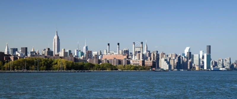 Miasto Nowy Jork Uptown linia horyzontu obraz royalty free