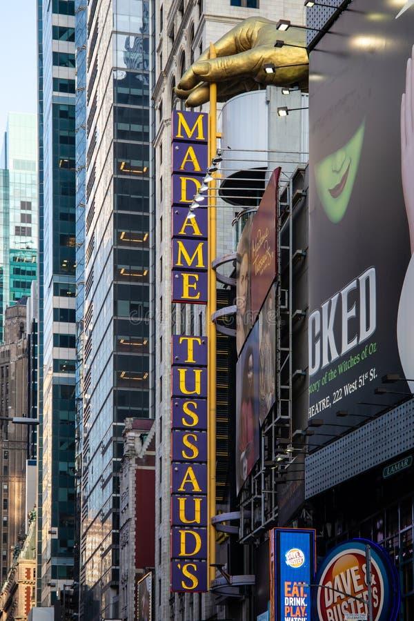 Miasto Nowy Jork, usa/- JUL 13 2018: Times Square uliczny widok przy r zdjęcie royalty free