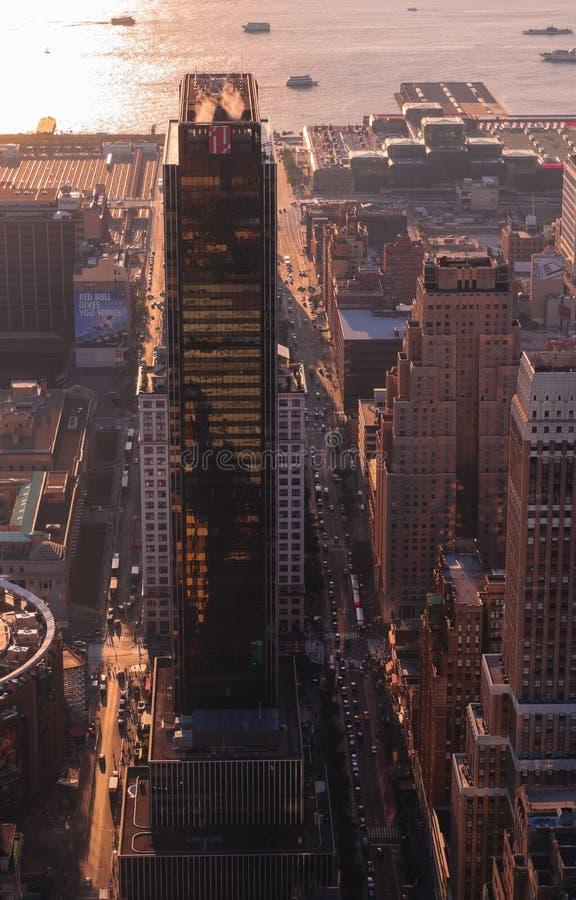 Miasto Nowy Jork w zmierzchu obrazy stock