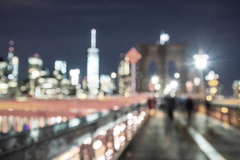 Miasto Nowy Jork Zaświeca - mosta brooklyńskiego i Manhattan linia horyzontu - zdjęcia royalty free