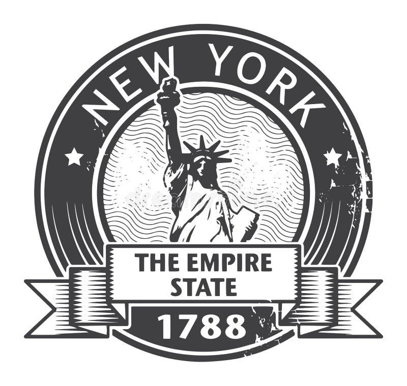 Miasto Nowy Jork znaczek ilustracja wektor