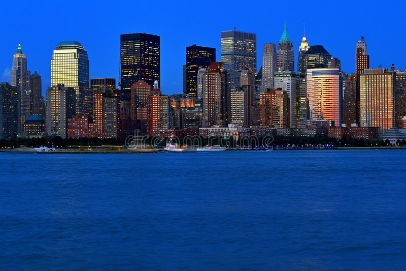 miasto nowy York żywy kolor obrazy stock