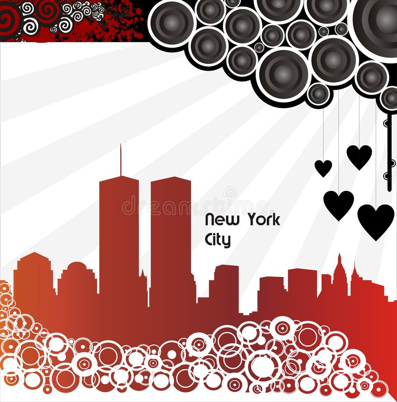 miasto nowy York royalty ilustracja