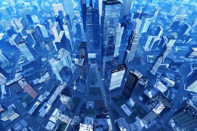 Miasto od powietrza zdjęcia royalty free
