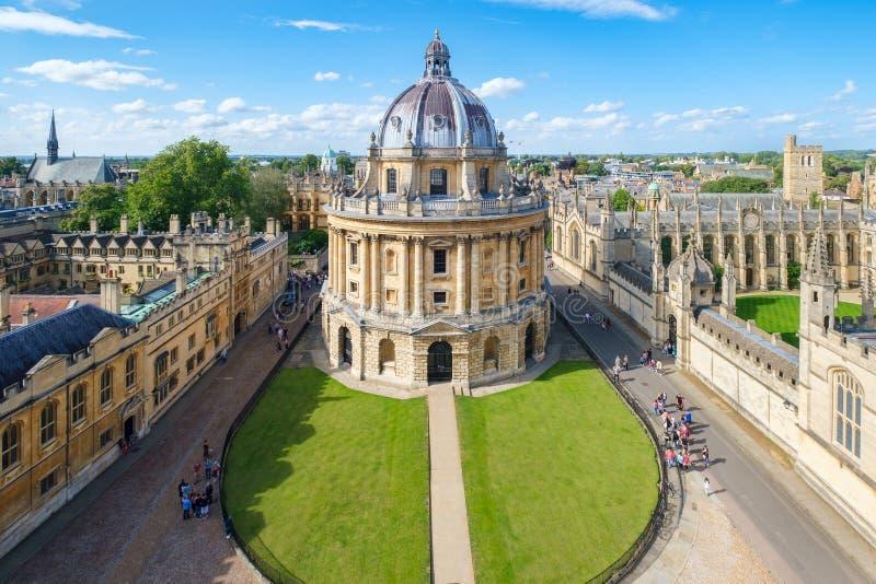 Miasto Oksford z kamerą Radcliffe i All Souls College fotografia royalty free