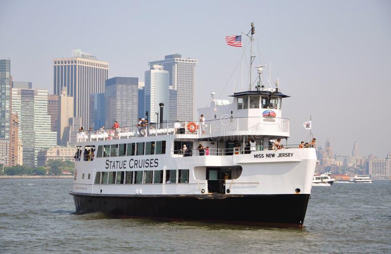 miasto pływać statkiem nową statuę York fotografia stock