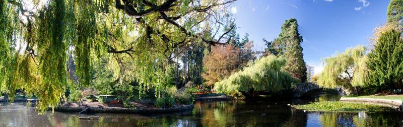 Miasto park w jesieni obrazy stock