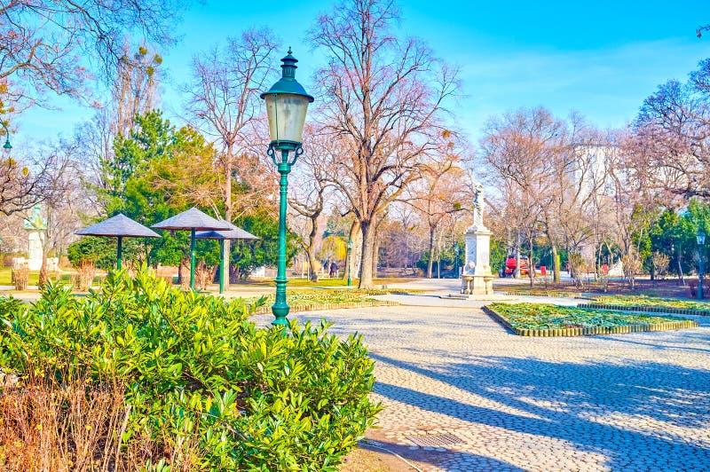 Miasto park Wiedeń, Austria zdjęcia stock