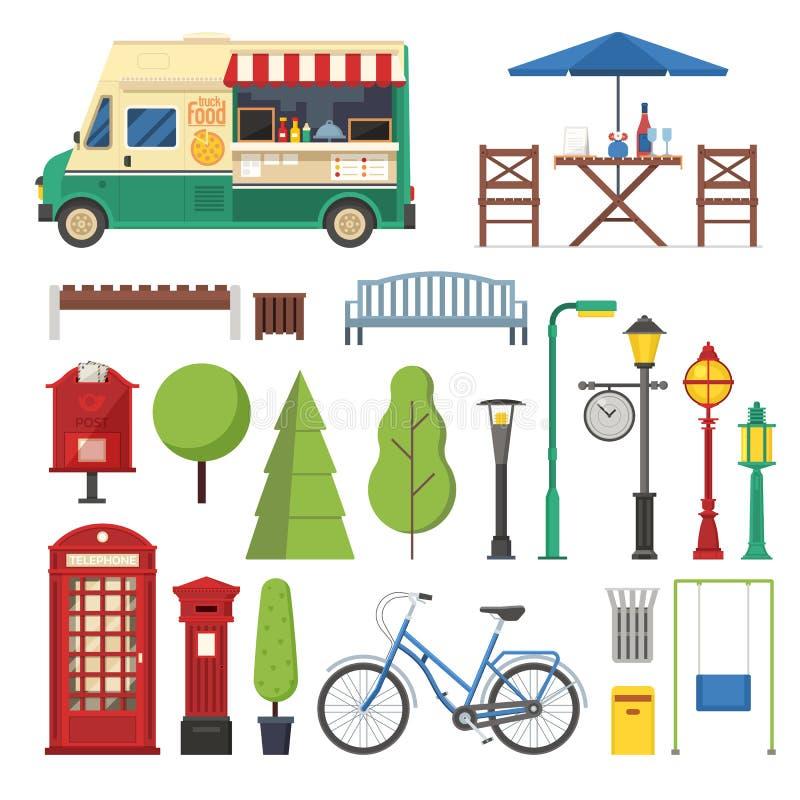 Miasto parka mapy elementy dla Infographic ilustracji
