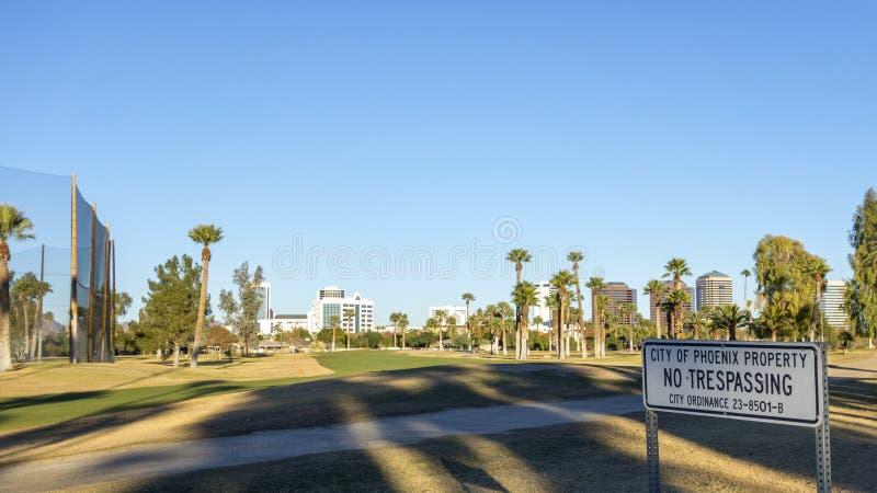 Miasto Phoenix własności znak fotografia royalty free